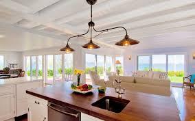montauk waterfront kitchen premium wide plank wood countertops