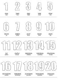 counting numbers 1 to 20 german 1 20 numbers learning poster wall baby