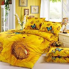 Yellow Bedding Set Diaidi 3d Sunflower Bedding Sets Butterfly Bedding Set
