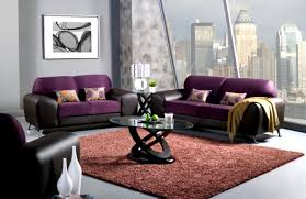 living room archaic purple living room design come with white