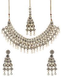 bridal pearl necklace sets images Bindhani indian wedding bridal kundan pearl necklace set at rs 400 jpg