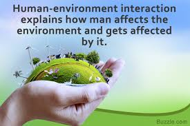 meaning of human environment interaction with striking exles