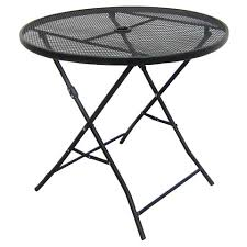 Folding Patio Dining Table 32 Metal Mesh Folding Tables And Patio Table