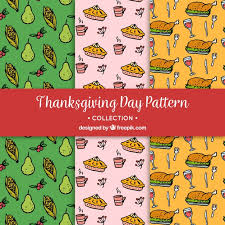 various thanksgiving patterns vector free