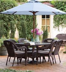 powder coated aluminum outdoor dining table prospect hill wicker oval table patio plow hearth