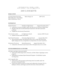 Music Teacher Resume Examples by Music Education Resume