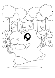 hamtaro coloring pages coloringpages1001 com