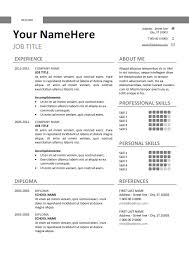resume templates word docx free free clean and simple resume template for word docx gray