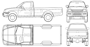 mitsubishi l 200 magnum 2005 model sheet blue print