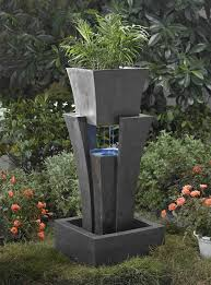 amazon com raining water outdoor indoor fountain with planter