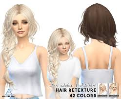 cc hair for sism4 sims 4 hairs miss paraply maysims 43 hairstyle retextured