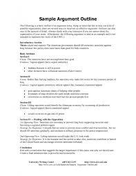 format for essay outline argumentative essay outline format exles and forms