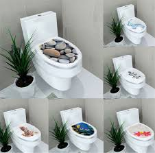Lovely Toilet Seats Bathroom Wall Stickers For Home Decoration