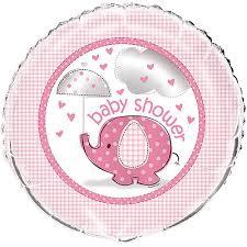 baby shower balloons 18 foil pink elephant baby shower balloon walmart