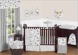 Woodland Animals Crib Bedding Bedding Cribs Boho Dust Ruffle Textured Standard Cribs Bacati