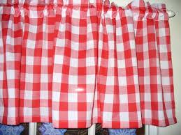 chic red white checkered kitchen curtains u2013 muarju