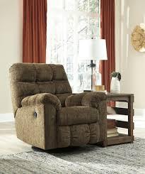 Swivel Recliner Chairs For Living Room Antwan Truffle Swivel Rocker Recliner From Ashley Coleman Furniture