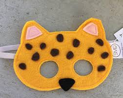 Wild Cat Halloween Costume Cheetah Mask Etsy