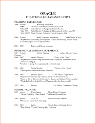 Audition Resume Sample Dance Resumes Template Learnhowtoloseweight Net