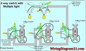 how to wire a 4 way light switch with wiring diagram 4 way