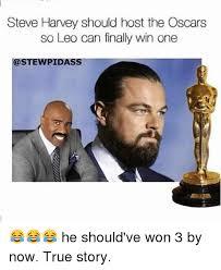 Funny Oscar Memes - steve harvey should host the oscars so leo can finally win one