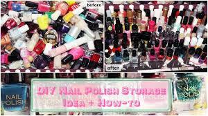 diy nail polish storage idea how to youtube