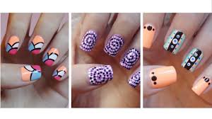 nail art very easy nail art designs how to with nails designes of