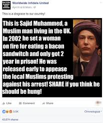 Anti Islam Meme - a satirical meme mocking anti muslim facebook content was mistaken
