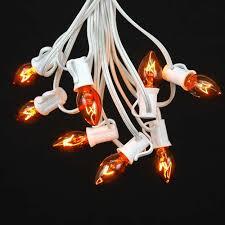 orange c7 light string sets novelty lights inc