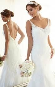 robe de mariã e dentelle dos robe de mariée en dentelle avec bretelles dos nu chic moderne