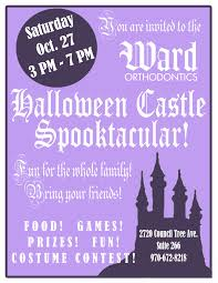 kids halloween party flyers halloween party flyer copy fort collins orthodontist ward