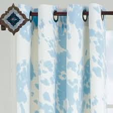 Cowhide Shower Curtain Santana Faux Cowhide Drapery Panel