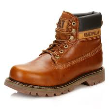 motorcycle shoes mens caterpillar mens brown golden colorado boots full grain leather