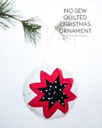 no sew quilted christmas ornament quilted christmas ornaments
