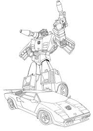 transformer coloring pages transformers sideswipe coloring sketch coloring page