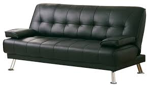 inspirations leather futon sofa bed and new novak black bycast