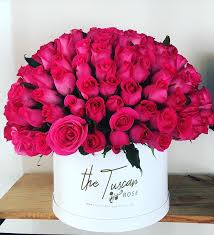roses bouquet hot pink bouquet box in san antonio tx the tuscan florist