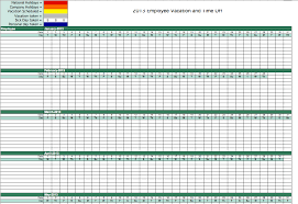 Accrual Accounting Excel Template Vacation Tracking Template Vacation Tracking