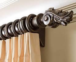 Gould Ny Drapery Hardware Select Iron Image Wood Curtain Rods 1 3 8 Inch Designer Drapery