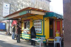 Portland Food Carts Map by File Mediterranean Food Cart In Portland Jpg Wikimedia Commons