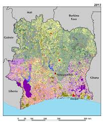 map of abidjan land use land cover and trends in côte d ivoire west africa