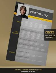 resume template free download creative free resume template on behance