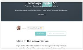 Conversational Text Messaging Solutions - conversational interfaces the future of chatbots chatbots magazine