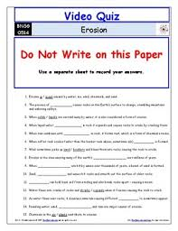 video worksheet quiz u0026 ans for bill nye erosion