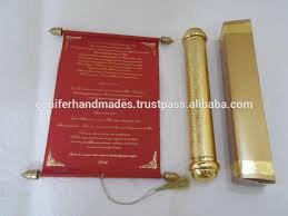 scroll invitation rods royal scroll wedding invitations in gold with matching box