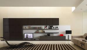 bright floor lamp for floating tv wall unit taupe and black living
