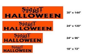 spirit halloween headquarters real esate signage specification spirithalloween com
