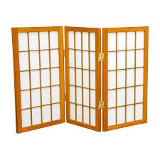 6 panel room divider 26 x 30 window pane shoji 3 panel room divider color honey ebay