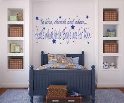 bedroom artistic navy blue wall quote sticker in bedroom art