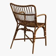 retro rattan dining arm chair 3d cgtrader